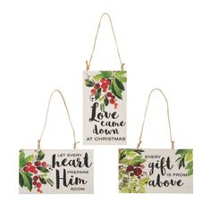 Bring warmth and inspiration to your Christmas decorations with these Religious Greenery Christmas Ornaments. Perfect for hanging on your own tree, th. Christmas Hearts, Christmas Ornaments To Make, Homemade Christmas Gifts, Wood Ornaments, Christmas Holidays, Christmas Decorations, Christmas Ideas, Xmas, Christian Christmas