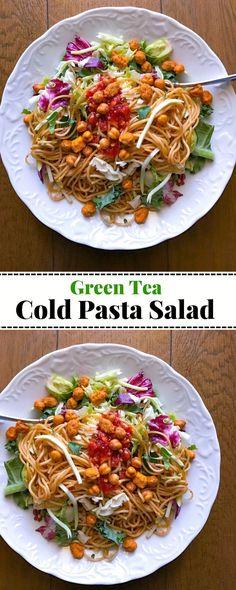 Green Tea Cold Pasta Salad: #green #tea #pasta #salad