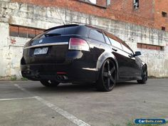 Holden Commodore Black on black VE Wagon Australian Muscle Cars, Aussie Muscle Cars, Chevy Ss, Chevrolet, Holden Wagon, 20 Inch Rims, Pontiac G8, Holden Commodore, New Tyres