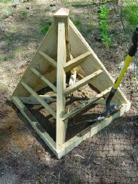 How to fill a pyramid planter -- a great space saver -- to use it as a trellis for climbing plants, just add some evenly spaced nails and fishing line; makes a great strawberry tower; use it in a veggie garden to plant flowers for color; or plant herbs