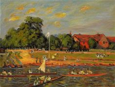 Regatta at Hampton Court by Alfred Sisley