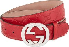 Gucci Red Gg Buckle Leather Belt for men Buy Gucci, Gucci Men, Mens Red Belt, Soft Leather, Red Leather, Gucci Leather Belt, Alessandro Michele, Embossed Logo, Italian Style