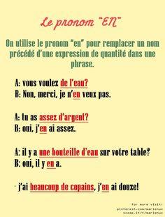 """Le pronom """"EN"""""""