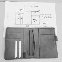 """From sketch to product #custommade #nomad #midoritravelersnotebook #leather #vanderspek"""
