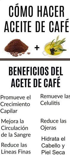 Cómo Hacer Aceite de Café - Care - Skin care , beauty ideas and skin care tips Beauty Care, Diy Beauty, Beauty Skin, Beauty Hacks, Beauty Ideas, Face Beauty, Homemade Beauty, Beauty Women, Beauty Tips For Face