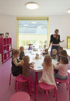 Church Nursery Decorating Ideas | From: Fun Nursery School Building in Colored in Yellow-Tellus
