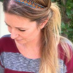 Idee cadeau - headband bijoux de tête, bandeau pour cheveux ethnique et sa chaîne en bronze