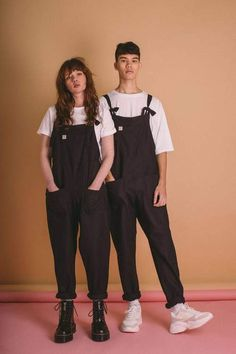 British Clothing Brands, Ethical Clothing, Ethical Fashion, Dungarees Outfits, Dungaree Dress, Overalls, Black Dungarees Outfit, Men's Dungarees, Unisex