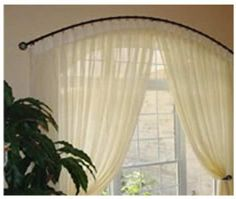 curved curtain rod for arch window curtains wall decor