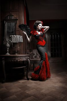 dramira:  Model: La Esmeralda Fashion: Royal Black Couture  Corsetry Photographer: Silent-View