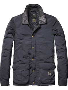 BNWT Mens Scotch and Soda Black Nylon Field Jacket