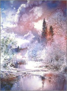 Nita Engle - May Skies - Renewal - This is one of more than works of art offered by ArtUSA, The World's Source for Collectible Art. Watercolor Art, Colorful Art, Art Painting, Landscape Paintings, Fine Art, Painting, Art, Watercolor Landscape, Landscape Art