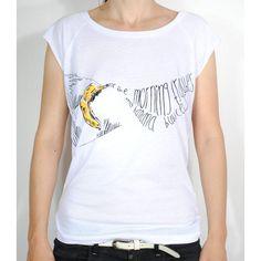 """T-Shirt """"banana bubbles . Organic Cotton, Bubbles, Banana, T Shirts For Women, Hoodies, Tees, Fashion, Notebook Bag, Moda"""