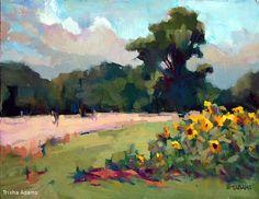 Edge of the Sunflower Field by Trisha Adams