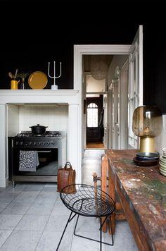 dark kitchen walls and decor / sfgirlbybay