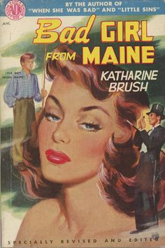 Bad Girls From Maine.  Vintage Pulp Fiction Cover Art.