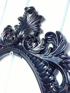 Ornate Oval Frame/ Baroque Frame/ Black Frame/ French Decor/ Wedding Decor/ Prop/ Wedding Decor/ Hollywood Regency/ Paris/ Shabby Chic