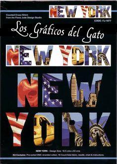 Bonito gráfico de Nueva York en letras...
