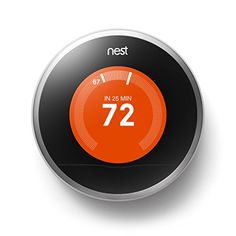 This cool thermostat learns what temperature you like, turns itself down when you're away and can be controlled from anywhere over wi-fi!!