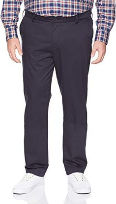 Edwards Garment Mens Business Casual Flat Front Pant 48 UL Khaki