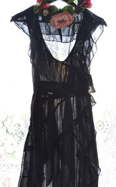 SALE Little Black Dress LBD Shabby ruffle by TrueRebelClothing, $60.00