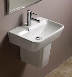 Emma Semi Pedestal Ceramic Bathroom Sink