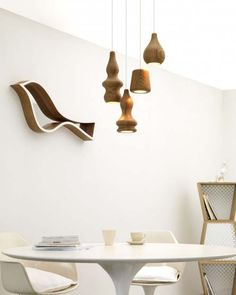 wooden Pendant Lamps, called The Blub Pendant Lamps, designed by Belgian Design Studio Fermetti.
