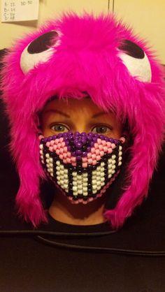Cheshire Cat Kandi Mask by CrazedCreationz on Etsy, $15.00