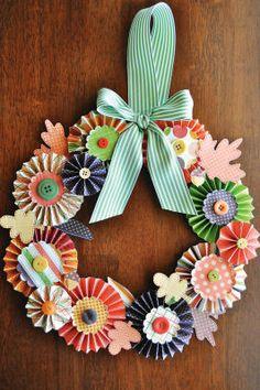 cute paper wreath