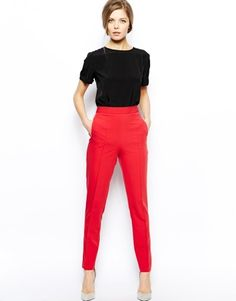 Loving the bright color of these pants!