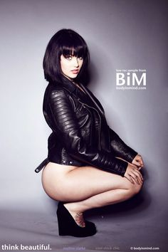 ☺ Body in Mind - Cool Chick Chic ~ Mellisa Clarke poses, looking cool in her leather jacket
