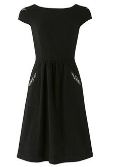 People Tree | Tanya Flower Embroidered Dress - eco, sustainable brand, Yeah!!