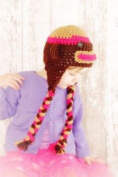 Sock Monkey hat by TheLovelyyarns on Etsy, $20.00