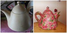 Up Cycled Tea pot