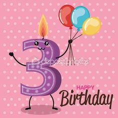 Vectores similares a 66226129 set birthday candles cartoon numbers. Vector illustration