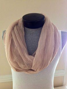 Chiffon gold pinstripe infinity scarf by MsFiggys on Etsy, $20.00