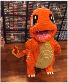 Charmander made of Legos