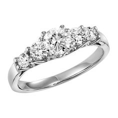 1.01cttw 5-stone round diamond engagement ring from Mullen Jewelers