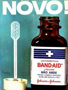 Antisséptico Band-Aid, #Brasil  #anos60  #retro