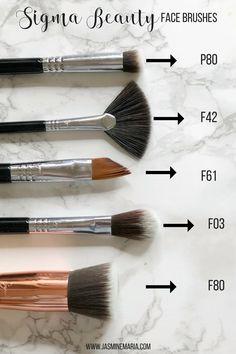 My Favorite Sigma Beauty Brushes - Jasmine Maria Sigma Makeup Brushes, Beauty Brushes, Eye Brushes, How To Apply Eyeshadow, Eyeshadow Looks, Makeup Art, Beauty Makeup, Makeup Tools, New Cosmetics
