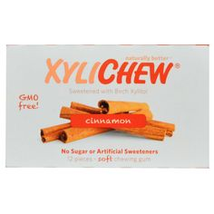 Sweetened with Birch Xylitol, Cinnamon, 12 Pieces