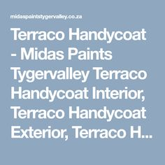 Terraco Handycoat Ready-mixed surface preparation products used by professional plasterers and painters! Acrylic based filler, ready-mixed and easy to use. Painters, Surface, Exterior, Easy, Products, Interiors, Outdoor Rooms, Gadget