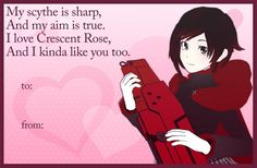 RWBY Valentines Day cards from Roosterteeth! Click the link to see all of them. Share them with your friends!! ^^
