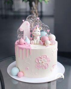 coffee mug cake recipe 1st Birthday Cake For Girls, Baby Birthday Cakes, Girly Cakes, Love Cake, Pretty Cakes, Celebration Cakes, Cake Designs, Cupcake Cakes, Cake Toppers