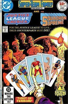 Superteam family justice league and squadron supreme