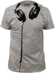Music fashion t-shirts are at Rocker Rags! Click here for men's tees featuring an image of DJ style headphones hanging under the neck. Free shipping!