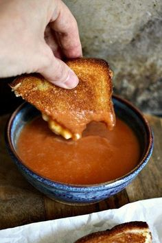 The classic American pairing of Grilled Cheese and Tomato Soup just got better with a Simple 6 Ingredient 6 Minute Creamy Tomato Soup made from scratch.