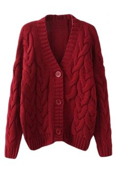 86b4fa0aefaa3 Melodicday offers Ruby Warm Womens Cable Knit Vintage Plain Cardigan Sweater    more to fit your fashionable needs.