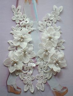 Beaded bridal lace applique with Pearls , Rhinestone Lace Applique for Wedding , Bridal sash, Weddin Check out Embroidered White Layered Beaded Flower Sew Appliques Trim Lace Dress 3 Relaxing Cool Tricks: Modest Wedding Dresses With Veil wedding dresses m Diy Wedding Dress, Wedding Belts, Applique Wedding Dress, Applique Dress, Wedding Gowns, Bridal Dresses, Modest Wedding, Hair Wedding, Blue Wedding