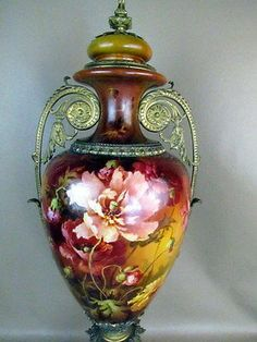 Finest Antique Lenox Tiffany Co Hand Painted Urn by Artist William Morley | eBay